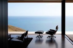 Parihoa Farmhouse in New Zealand by Pattersons Associates | Design Milk #interior #decor #view #living
