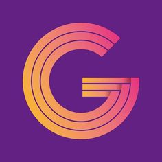 G entry for 36 days of type project #vector #lettering #pink #design #graphic #orange #cirlce #purple #rounded #type #typo #typography