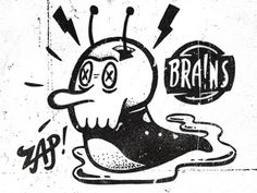 Dribbble - Brainslug by Chris DeLorenzo #illustration #hand drawn #texture #slug