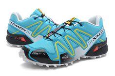Salomon Speedcross CS 3 Womens Score Blue Yellow Black Trail Running Shoe #fashion