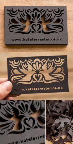 Beautiful Laser Cut Business Card Design
