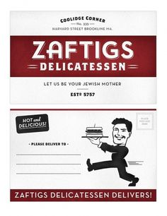 Zaftigs Delicatessen on the Behance Network #design #graphic #restaurant