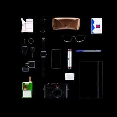 C-41 | Inventorialism. 000_ Jef #jef #claes #black #iphone #leica #rayban #photography #tabletop