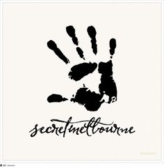 SecretMelbourne (Events porthole) logo #events #resinism #secretmelbourne #handprint #logo #management