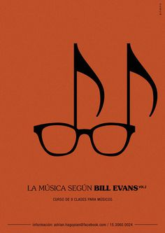 Music according to Bill Evans on Behance #glasses #piano #modern #jazz #bill #classic #evans #study #music