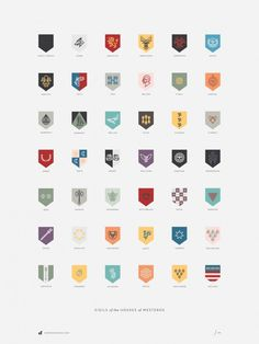 Houses Westeros by Darrin Crescenzi #badges #flat #icons #design