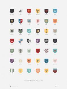 Houses Westeros by Darrin Crescenzi