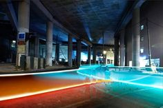 c2ak at Computerlove - Trun and Tronified at Amusement #design #orange #space #blue #neon