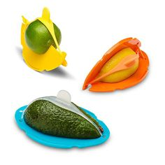 Keep your cut food fresh longer with the Wedge Food Saver.
