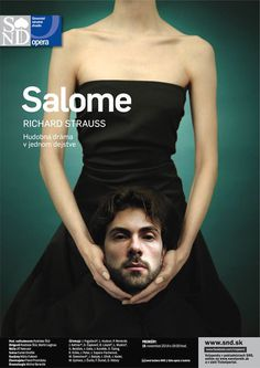 Salome | Slovak National Theatre | Opera | Image Campaign | Performing Arts | Richard Strauss | Poster | www.josellopis.com #holding #theatre #design #head #behead #salome #photography #opera #art #graphics