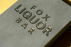Design Envy · Fox Liquor Bar Business Card: Joshua Gajownik #brand