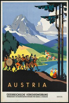 Austria Poster #austria #illustration #travel #poster