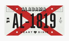 Alabama by Bethany Heck It was important to me to create a design that was practical and could be made using current production methods (exc #license #plate #alabama #design #state #plates #typography