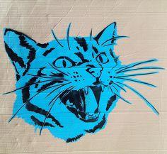 Stencil cat #stencil #art
