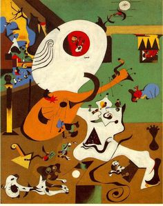 Dutchint amazing surrealistic painting by artist Joan Miró #surrealism #surrealistic #painting #paintings