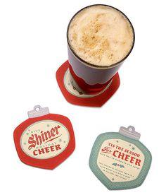 shiner, cheer, beer, holiday, red, green, christmas