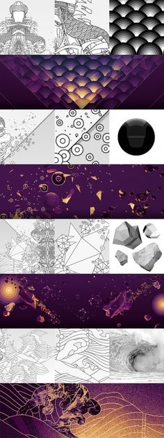 Amphitrite & Poseidon – INSgraphizm remix on the Behance Network #scales #bubbles #polygons #insgraphizm #waves #jos