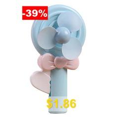 Mini #Hand-held #Lollipop #Fan #- #LIGHT #BLUE