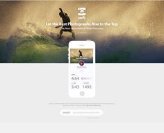 Smile Landing Page #surfing #photo #clean #ui #iphone #mobile #ios #minimalist