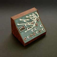 Analogue Miniature 12 #miniatures #synth #craft #art #paper