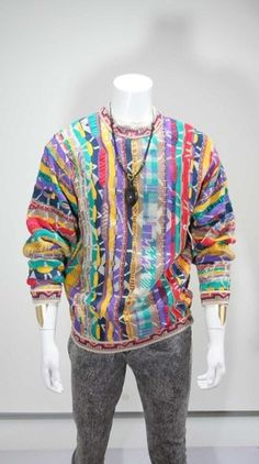IMG_4606.jpg (918×1641) #hiphop #colors #90s #coogi #sweater #fashion