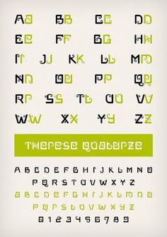 Novo Typo - Therese Quatorze - Type specimen #novo #design #typeface #typo #typography