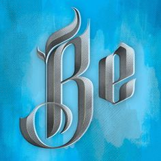 betype:Blackletter (by Kyle J. Letendre) #type #blackletter #half #tone #screen #print