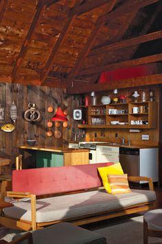 mid century modern cabin