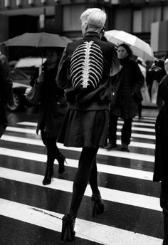 Ribcage jacket #blackwhite #rib #cage #photography #street #fashion