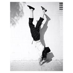 fashion, black and white, hat, upsidedown