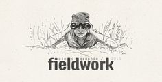 cinographic fieldwork, pen drawing, field, binoculars, fieldwork in art, #illustration #artwork