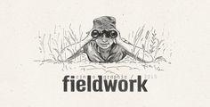 cinographic fieldwork, pen drawing, field, binoculars, fieldwork in art, #illustration #artwork