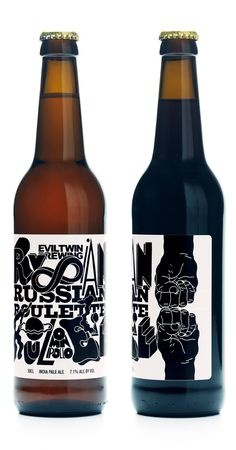 Russian roulette bottle #graphic design #packaging #beer #bottle