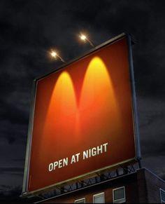 FFFFOUND! | 20 Creative McDonalds Ads « From up North | Design inspiration & news #advertising #night #mcdonalds
