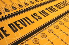Siobhán Gallagher #design #poster #yellow #devil #details