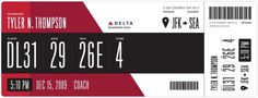 Redesigning the Boarding Pass   Journal   Boarding Pass /Fail