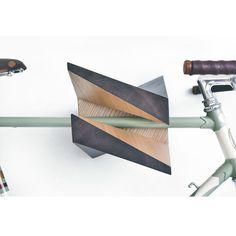 "Oak Wood Bike Hanger ""Iceberg"" by Woodstick Ltd. #wood #hanger #bike"