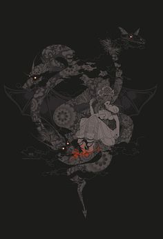 Zmey G. by ~ya na on deviantART #dragon #fantasy #illustration #magic #painting