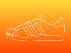 Line illustration - Adidas Superstar by Equal Parts Studio