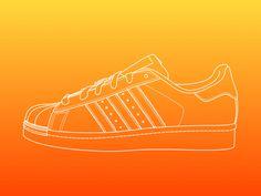 orquesta reforma Intrusión  Creative Illustration, Line, -, Adidas, and Superstar image ideas &  inspiration on Designspiration