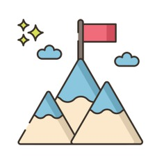 See more icon inspiration related to mission, goal, sports and competition, achievement, winner, landscape, mountains, flag and nature on Flaticon.