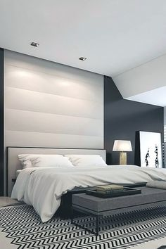 Penthouse in Dusseldorf | Ando-Studio #inspiration #interior #bedroom #luxury