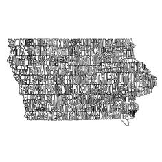 99 Counties But A Bitch Ain't One on Behance, Caitlin Barnes #iowa #drawn #hand #typography