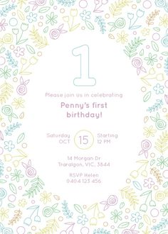 Wild One Birthday - Birthday Invitations #birthday #invitation #birthdayinvitation #paper #design #print #digitalprint #paperlust #wedding
