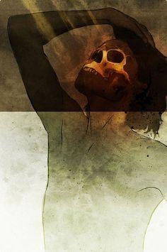 Orange Composites 2007, Signalnoise « matmacquarrie.ca #white #signalnoise #orange #composites #james #skull