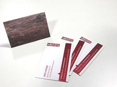 Business cards on bespoke textured stock