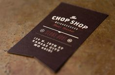 Chop Shop #business #card #print #ptarmak #logo