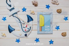 Summer theme with anchor and frame Free Psd. See more inspiration related to Frame, Mockup, Summer, Beach, Sea, Sun, Photo frame, Photo, Stars, Holiday, Mock up, Anchor, Decorative, Vacation, Wooden, Summer beach, Marine, Up, Season, Wood frame, Theme, Composition, Mock, Summertime and Seasonal on Freepik.