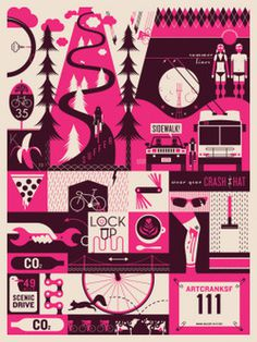 Artcrank Poster Show: San Francisco #collage #bike