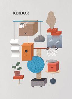 KixBox SS/13 #flyer #colours #illustrations #poster
